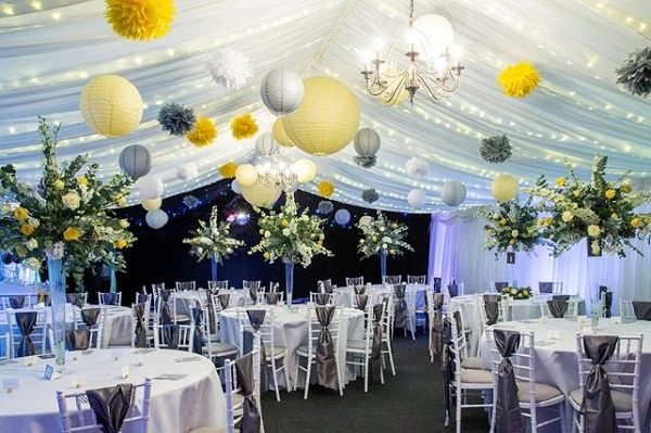 Wedding decoration 2018 with Chinese paper lamps
