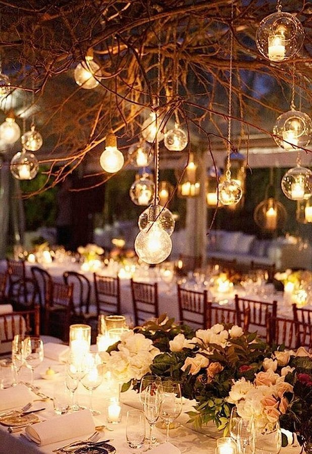 Wedding decoration 2018 with candles