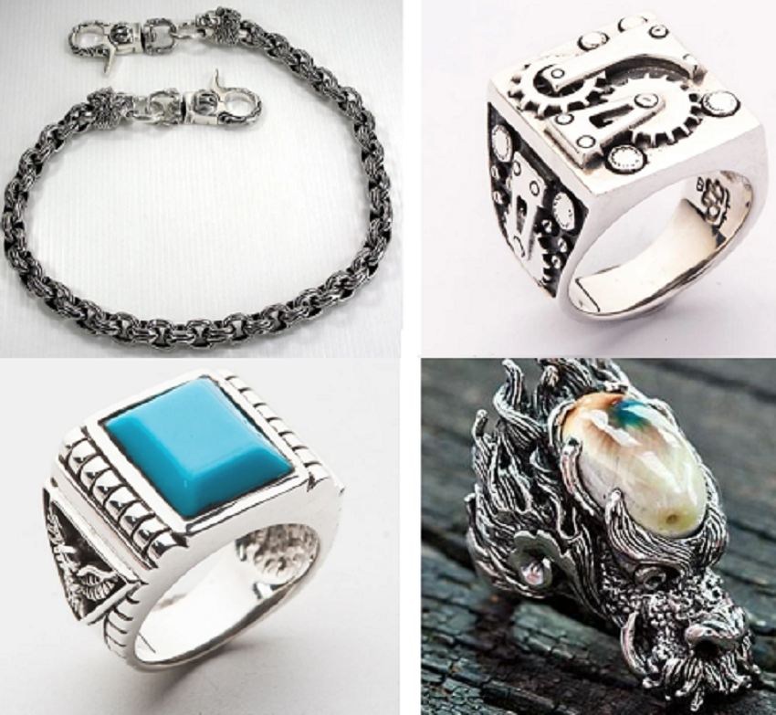 different kinds of biker jewelry online
