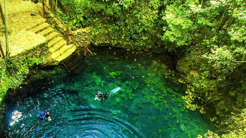discover the Route of the Cenotes in Puerto Morelos